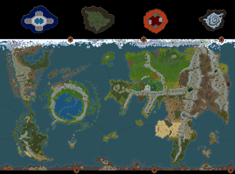 Map Warhammer World V10 Dominions 4 Mods